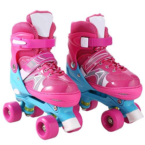 Aceshin Adjustable Inline Skates with Light up Wheels Beginner Roller Skates Fun Illuminating Roller Skates for Kids US Stock