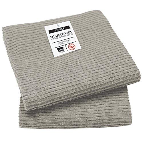 Now Designs Ripple Kitchen Towel, Set of 2, London Grey
