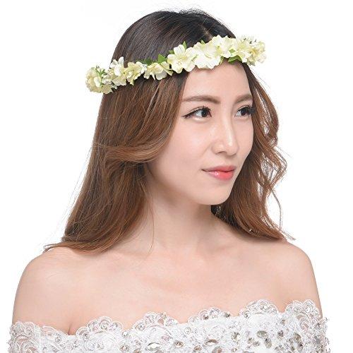 Flowers Wreath Headband for Wedding, Beach vacation, photo shoot Headbands by Sunshine