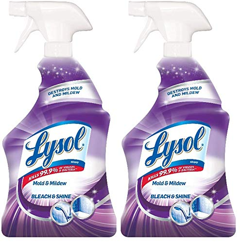 Lysol Mold & Mildew Foamer w. Bleach, Bathroom Cleaner Spray, 32oz (Pack of 2)