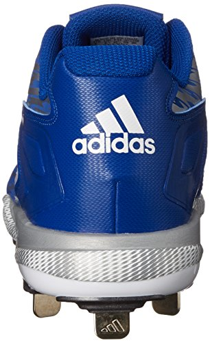 Mens Adidas Performance Poweralley 3 Scarpa Baseball Collegiale Reale / Bianco Grigio Metallizzato /