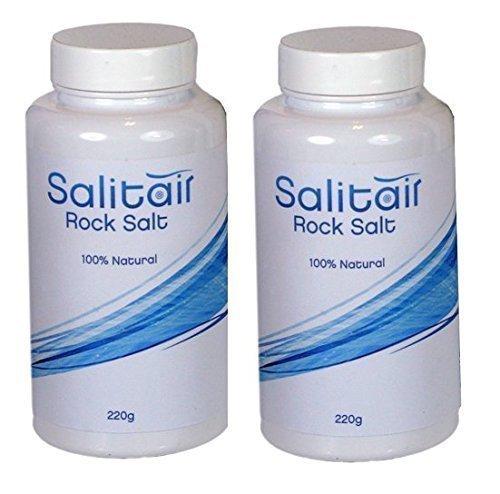 2x Salt for Salitair salt inhaler - 220g refill bottle by Medi -