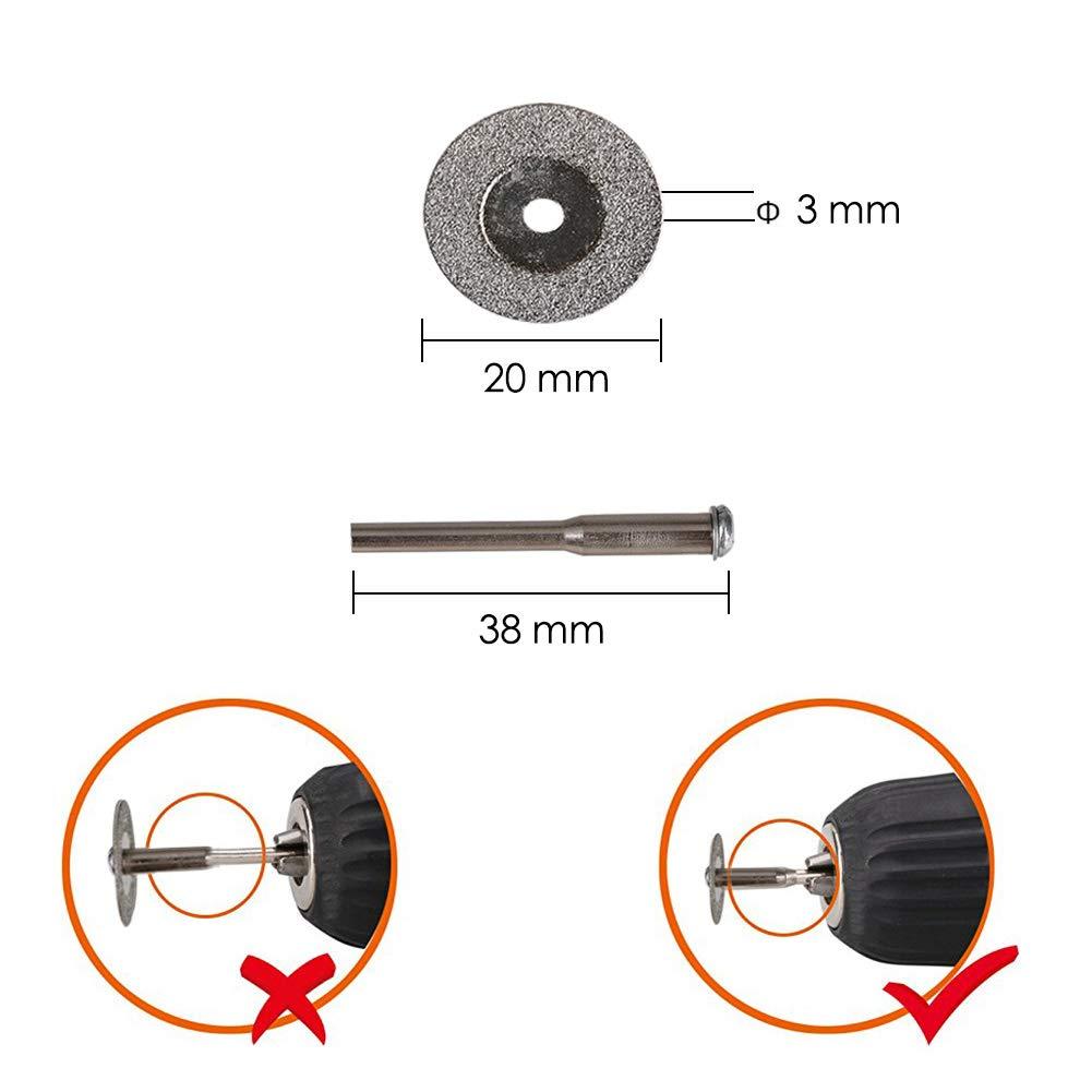 Gaocunh 12 Pcs Disco diamantato Mini Lama per sega circolare per utensili di rotazione Dremel Diamond Cutting Wheel