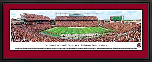 South Carolina Gamecocks Framed (South Carolina Football - 50 Yard  - Blakeway Panoramas College Sports Posters with Deluxe Frame)
