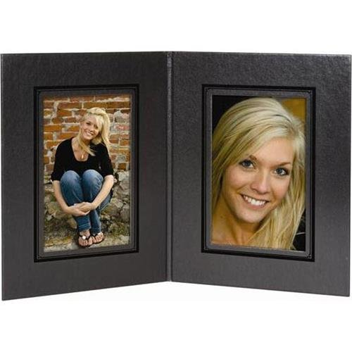 TAP Presidential Folder Frame, for Two 5x7'' Vertical Print, Case of 100, Color: Black/Black Foil by Tap