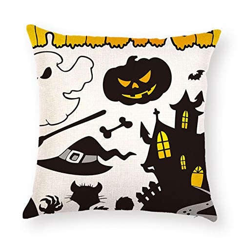 2018 1 Pcs Halloween Letter Pillow Case Waist Throw Home Printed Pillowcase Festival Party 6A017701 ()