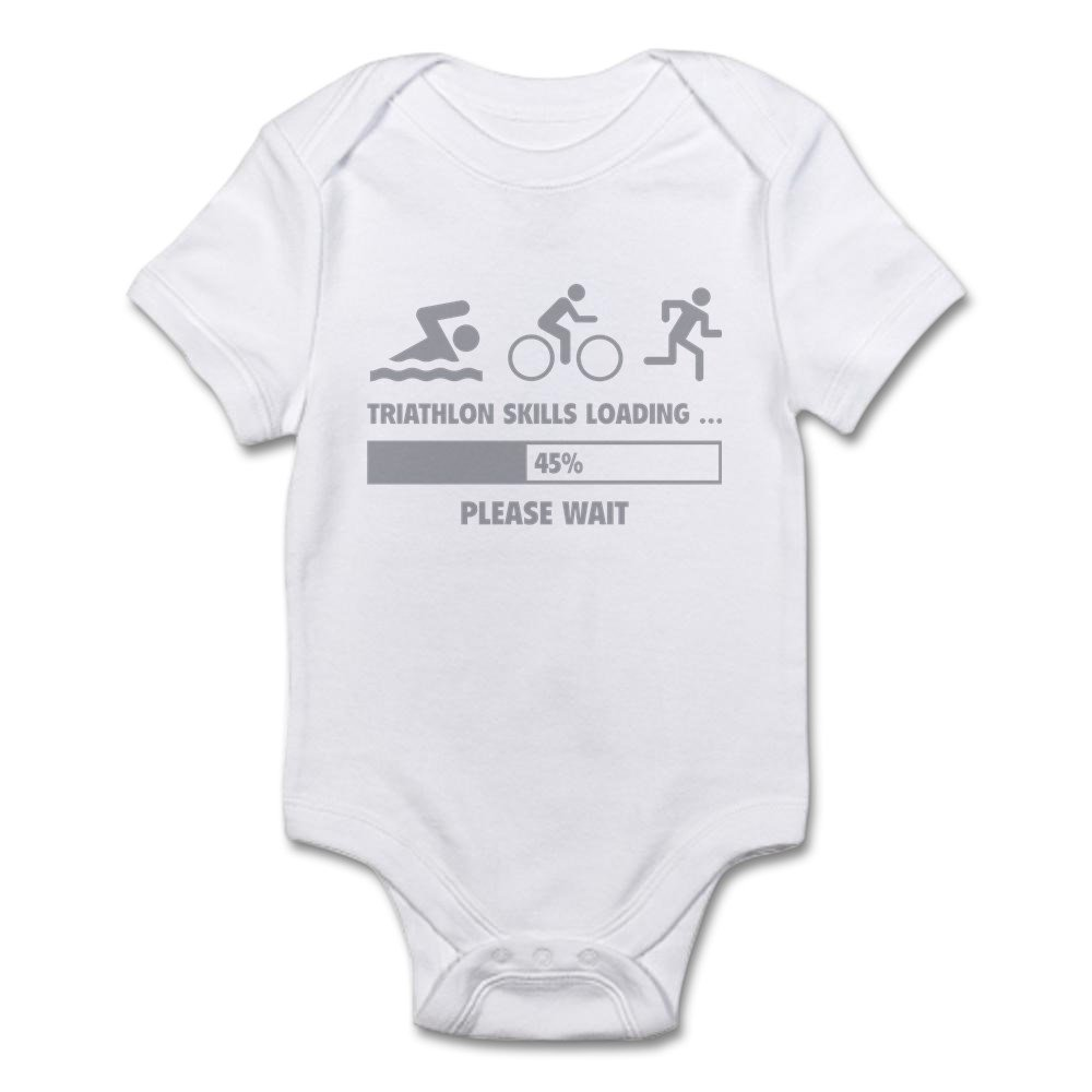 CafePress Triathlon Skills Loading Cute Infant Bodysuit Baby Romper