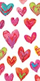 Valentines Day Party Hankie Napkins by Caspari Love Hearts 10 Packs