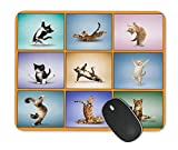 Kieona Smith Yoga Cat Mouse Pad Design Personalized Unique Surface Natural Rubber Anti Slide Mouse Pad Gaming Mouse Pad Mouse Pad