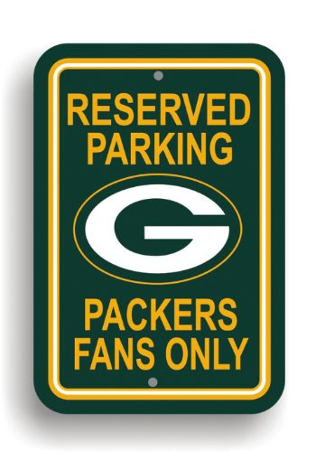 Fan Parking Sign - Fremont Die NFL Green Bay Packers Plastic Parking Sign