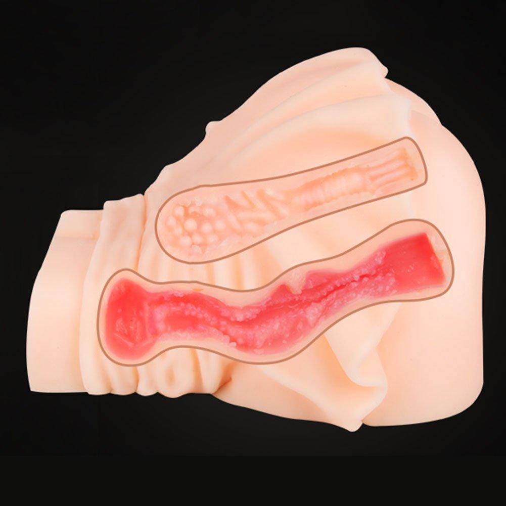 Coño Culo 3D Realista Silicona Masturbador Masculino Simulación Vagina Hembra Anal Vagina Simulación c1811a