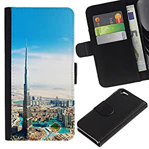 Burj Dubai Khalifa - la tarjeta de Crédito Slots PU Funda de cuero Monedero caso cubierta de piel Para Apple (4.7 inches!!!) iPhone 6 / 6S