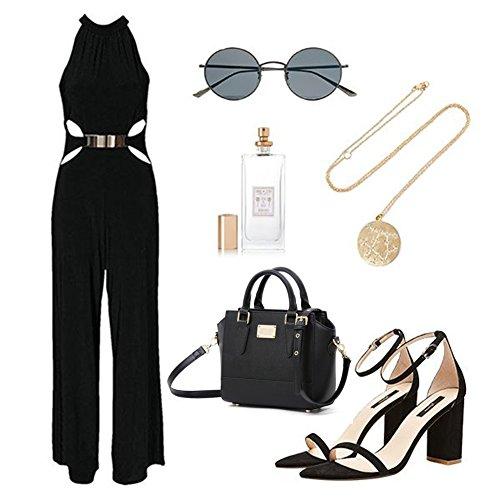 Yoome Elegant Taschen Für Frauen Top Handle Bag Niet Taschen New Chic Taschen Crossbody Tiny Handtaschen - Pink Schwarz qUc2p3Me