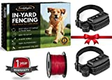 Underground Invisible Electric Outdoor Dog Fence Containment System,10 Acre Range 1000 Ft In