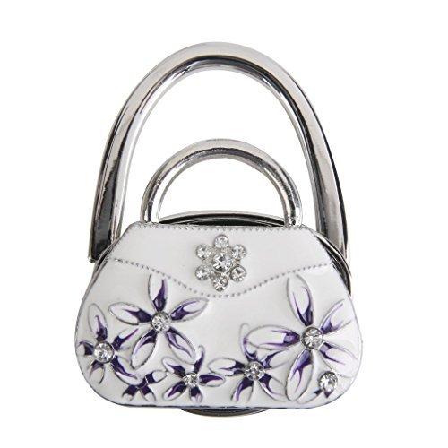Gancho Bolsa porte-sac gancho de bolso plegable forma de bolsa de porcelana (color blanco) Dasuke