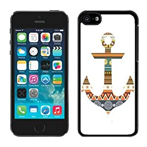 MMZ DIY PHONE CASEDiy iphone 5c TPU Case Best Black Soft Silcon Cover Anchor Aztec Cell Phone Accessories