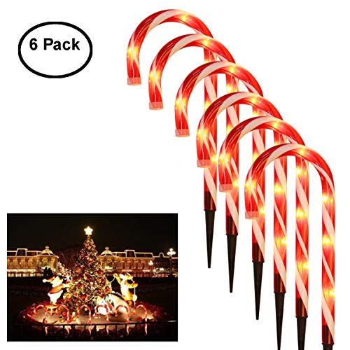Candy Cane Solar Light Stakes in US - 1