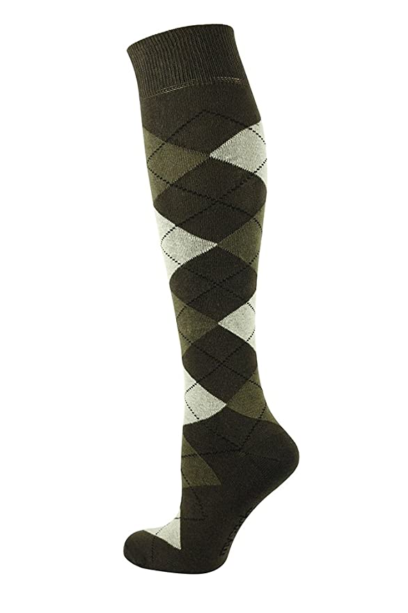 Mens Vintage Style Shoes| Retro Classic Shoes Mysocks Unisex Knee High Long Socks Argyle Extra Fine Combed Cotton $40.00 AT vintagedancer.com