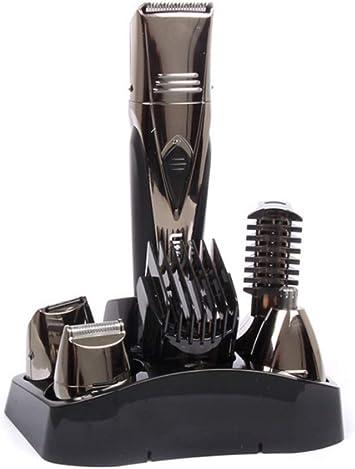 Cortapelos Kit polivalente 5en 1, Barbero multigrooming Kit eléctrico hombre Depiladora y Afeitadora corporal BodyGroom: Amazon.es: Salud y cuidado personal