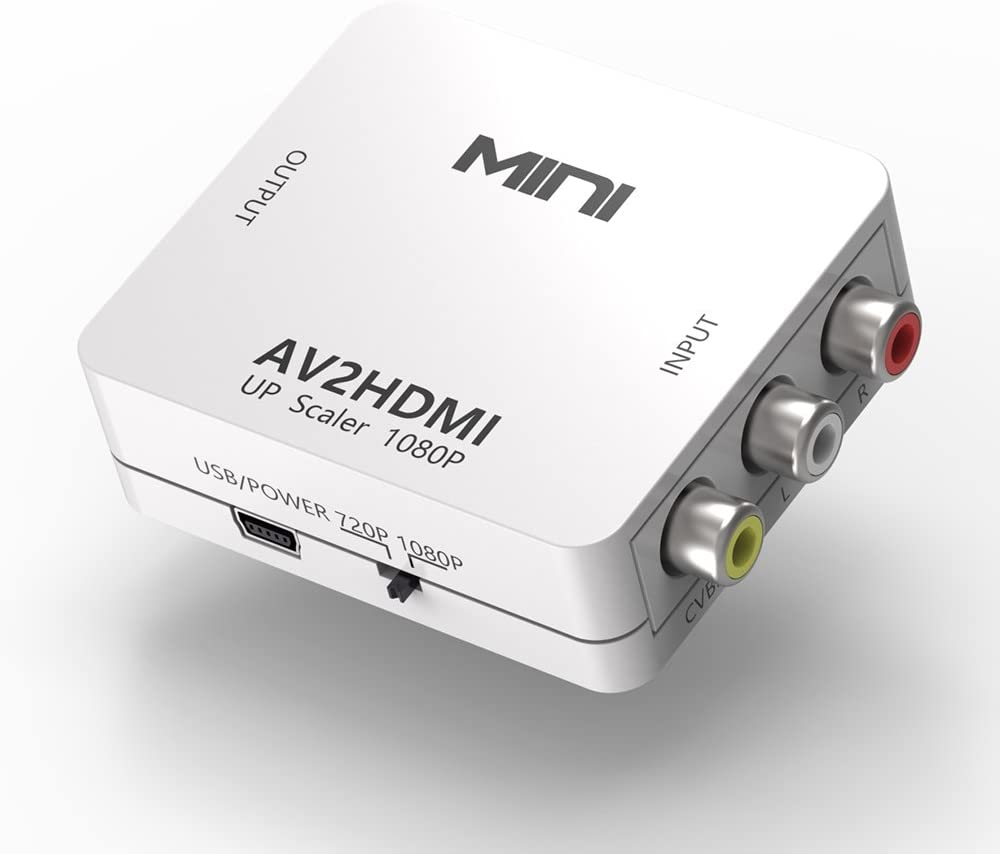 RCA to HDMI, RCA to HDMI Converter Composite AV Video Audio to HDMI