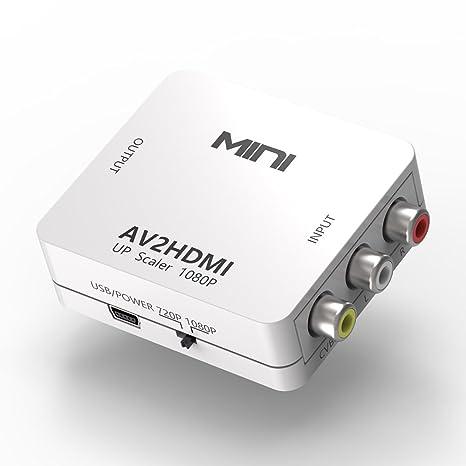 RCA to HDMI, RCA to HDMI Converter Composite AV Video Audio to HDMI
