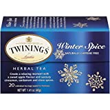Twinings of London Winter Spice Herbal Tea Bags, apple flavoured camomile tea spiced with cinnamon, cardamom and cloves, 20 Count