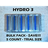 Schick Hydro 3 - 5 Count Bulk Pack (Trial Size)