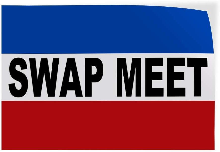 54inx36in Decal Sticker Multiple Sizes Swap Meet Business Swap Meet Outdoor Store Sign Black Set of 2