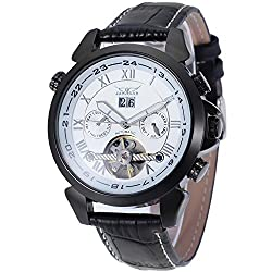 Forsining Men's Automatic-self-wind Tourbillon Calendar Stainless Steel Bracelet Luxury Watch JAG057M3B1