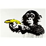 Posters: Monkeys Poster - Just Shoot Me, Banana Gun (36 x 24 inches)