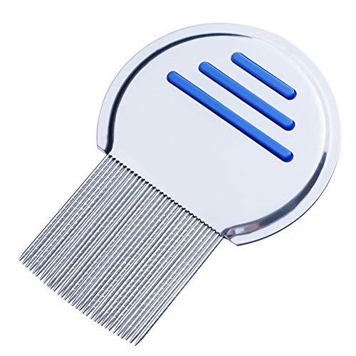 (Professional Reusable Lice Comb for Kids Adults Lice Treatment Helix-Spiraled Nit Comb- Cepillo Peine para Remover Los Piojos de Niños Adultos Silver Blue Best Bueno Mejor economico, barato)