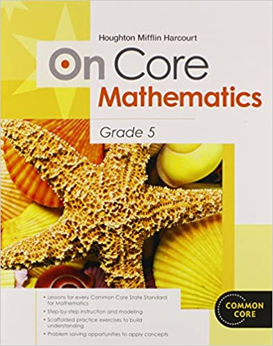 Math Worksheets houghton mifflin math worksheets grade 5 : Amazon.com: Houghton Mifflin Harcourt On Core Mathematics ...