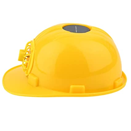 Casco de Seguridad con Ventilador Solar, cómodo Visera Casco Duro Construcción del Sombrero Duro enfriamiento