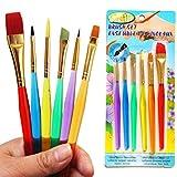 6 Pcs/Set Paint Brush Set New Nylon Handle Brush Kid Watercolor Drawing Painting By Team-Management