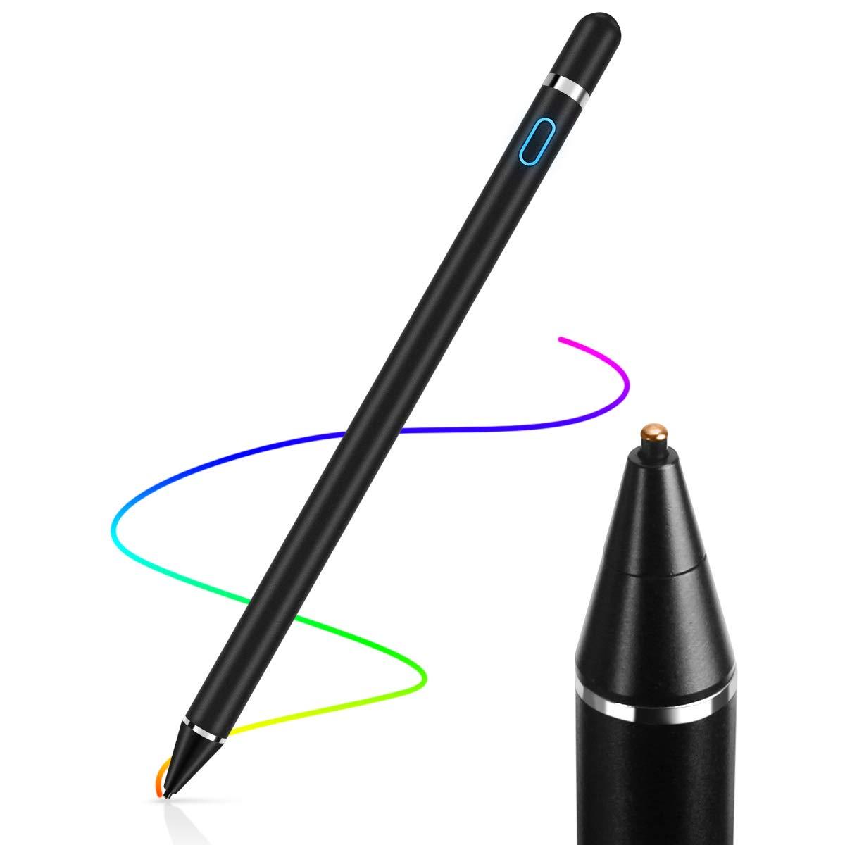 1.45mm Oro Rosa AICase Active Stylus Pen,Penna Capacitiva Attiva Punta Fine Active Stylus Stilo Universale per Qualsiasi Touch Screen,10 Ore Continue Work /& 30 Giorni di Standby