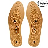 Healifty 2 Pairs Magnetic Therapy Shoe Insoles Tailorable Acupressure Shoe Pads for Men Women Stimulating Pressure Points Acupressure and Reflexology Size 35-40