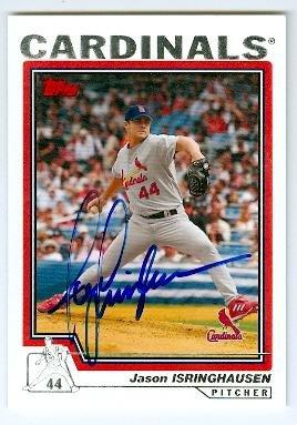 Jason Isringhausen autographed baseball card (St Louis Cardinals) 2004 Topps #525