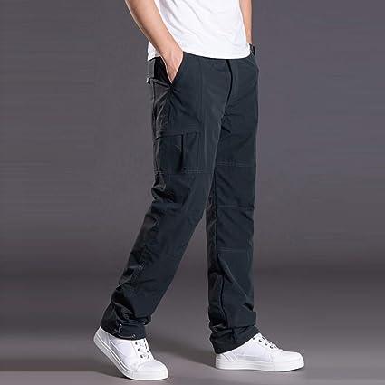 JiaMeng-ZI Pantalones para Hombre Impermeable Casual Pantalón ...