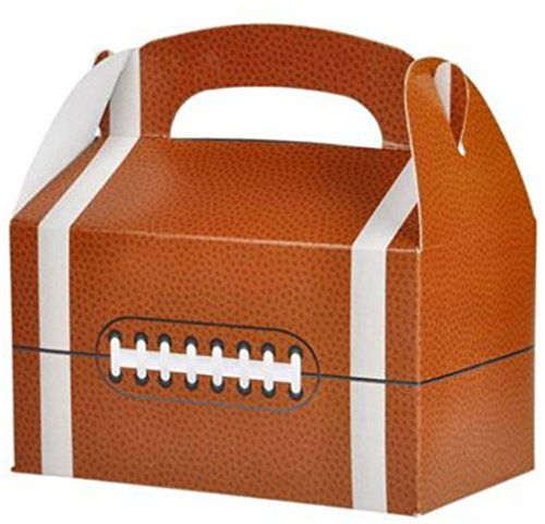 12 FOOTBALL PARTY TREAT BOXES FAVORS GOODY BAG BAZAAR PRIZE GIFT BASKET CARNIVAL