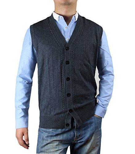 Zerdocean Solid Button Down Sweater Cardigan