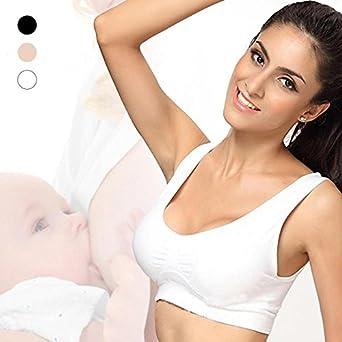 bf3652beb Pymacin - Pregnant Mum Maternity Bra Baby Feeding Wireless Cotton Nursing  Bras Breastfeeding Underwear Brassiere at Amazon Women s Clothing store