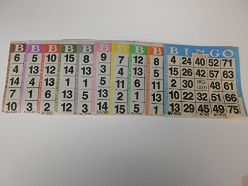Bingo Paper Game Cards - 1 card - 10 sheets - 100 books of 10 sheets (Game Bingo Sheets)