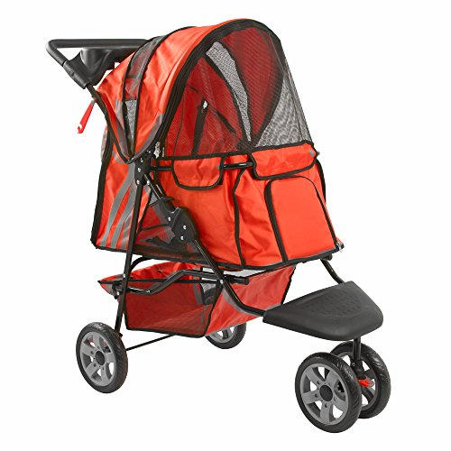 Orange Zephyr 3-Wheel Pet Jogging Stroller
