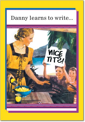 Danny Learns - Adult Humor Graduation Note Card with Envelope (4.63 x 6.75 Inch) - Vintage and Funny, Fresh Graduate Card for Men, - Classic Congratulations Stationery Greeting Notecard 3804