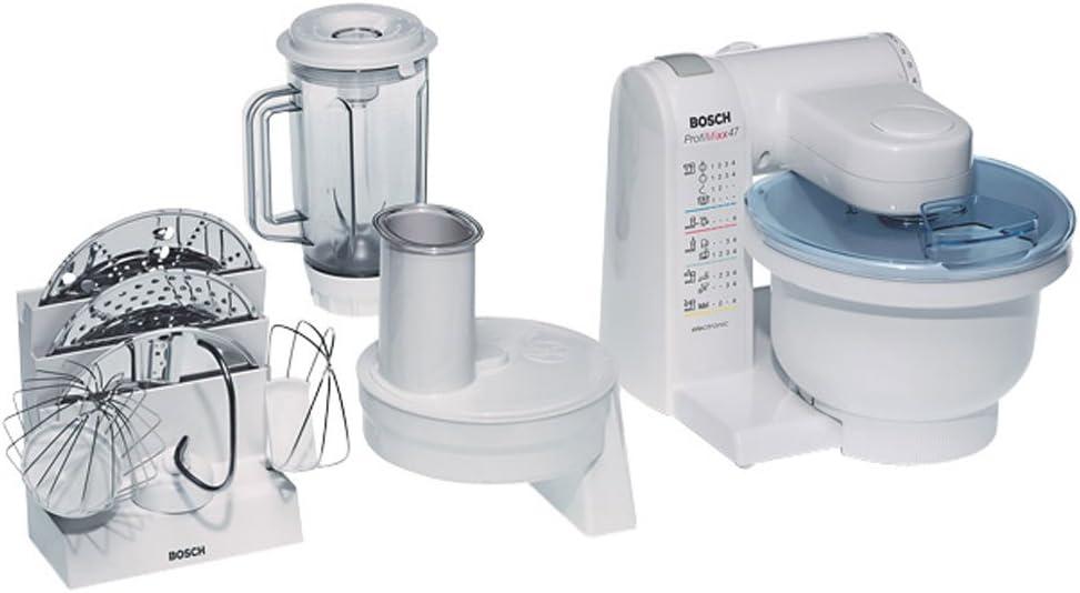 Bosch MUM4701, Blanco, 4060 g, 265 mm, 265 mm, 305 mm, 1.2 m - Robot de cocina: Amazon.es: Hogar