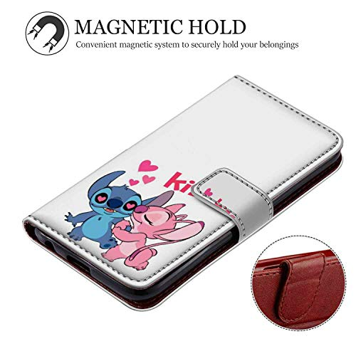 (DISNEY COLLECTION Apple iPhone Xr Wallet Case 6.1inch Stitch Kisses Angel)