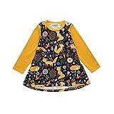 07c9eeea dinlong bebé niños bebé niñas manga larga dibujos animados Fox impresión  sol vestido de princesa falda
