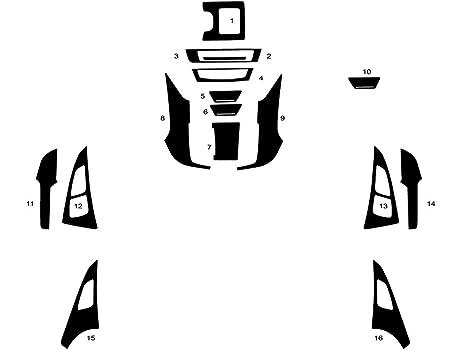 Red Carbon Fiber 3D Rdash Dash Kit Decal Trim for Dodge Charger 2011-2015
