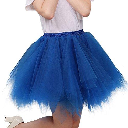 Bouffe Femme Elastique Saphir 4 Tutu 50s Genou au Bleu A Pettiskirt Ballet Princesse Pliss en Annes Imixcity Princesse Vintage Couche Robe 6FdIq61A