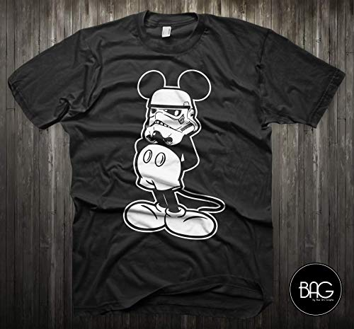Star Wars Shirt Mickey Mouse Storm Trooper Darth Vader Shirt - Mickey Mouse - Gift For Him or Gift For ()